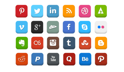 local seo social media icons